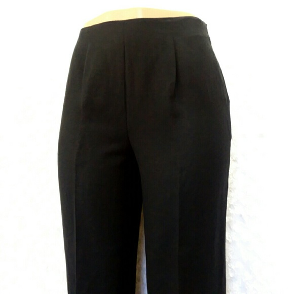 cd7e4bb34e403d Mirasol Pants | Linen Rayon Cropped Black By | Poshmark